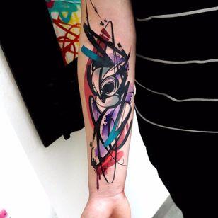 Por Dynoz #DynozArtAttack #gringo #abstract #abstract #colorido #colorful #aquarela #watercolor #ave #bird #passaro #coruja #owl