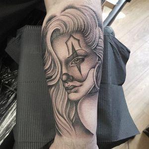 Payasa by Danielle Mawby #DanielleMawby #blackandgrey #payasa #tattoooftheday