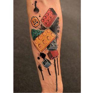 Lego tattoo by Mirco Campioni #MircoCampioni #graphic #lego
