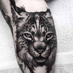 Wild cat by Kelly Violence #KellyViolence #blackandgrey #cat #wildcat #junglecat #animal #nature #realistic #tattoooftheday
