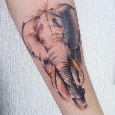 Elefante por Dani Bastos! #DaniBastos #tatuadorasbrasileiras #tattoobr #Brasília #elefante #elephant #animal #nature #natureza #sketch