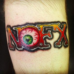 NOFX logo with eye by Mike Smith (via IG -- painterz_mgs) #mikesmith #nofx #nofxtattoo