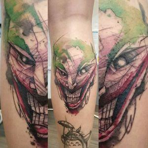 Joker Tattoo by Loreen2l #joker #jokertattoo #watercolorjoker #watercolor #watercolortattoo #sketch #sketchtattoo #watercolorsketch #sketchwatercolor #abstractwatercolor #Loreen2L