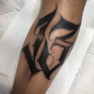 '13' Lettering Tattoo by Gabri #lettering #number #script #blacklattering #blackwork #blckwrk #GabriL