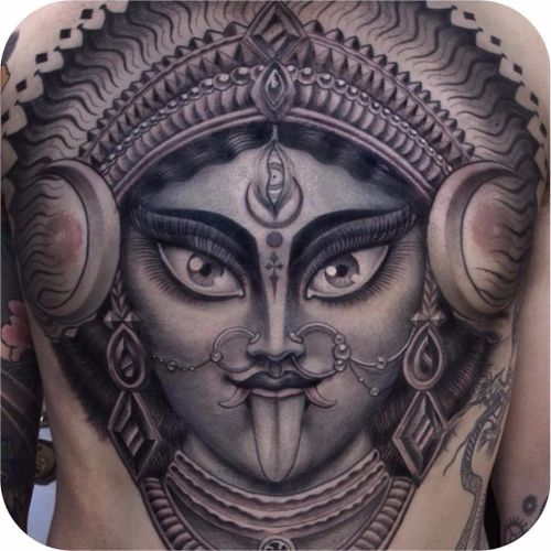 Deusa Kali por Anderson Luna! #AndersonLuna #Kali #Cali #Kalitattoo #Calitattoo #hindu #hinduism #hindutattoo #lingua #tongue