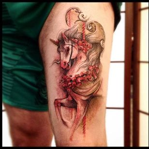 Unicórnio fabuloso #VictorMontaghini #brasil #brazil #tatuadoresdobrasil #brazilianartist #estilorascunho #sketchstyle #watercolor #aquarela #unicornio #unicorn #carrossel #horse #cavalo