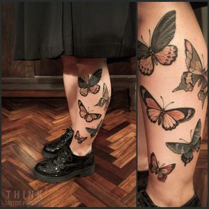 Butterfly tattoo by Santi Bord #SantiBord #neotraditional #butterfly #butterflies