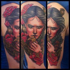 Polish Maiden Tattoo by Bartosz Panas #neotraditional #neotraditionaltattoo #neotraditionalartist #polishtattoo #polishartist #BartoszPanas