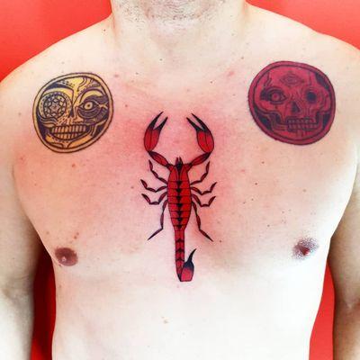 Scorpion tattoo by Uve #Uve #graphic #redink #bold #popart #scorpion #arachnid #animal #poison #nature