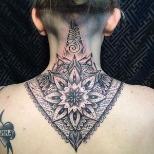 Dotwork mandala tattoo by Glenn Cuzen #GlennCuzen #geometric #mandala #dotwork (Photo from Glenn's Instagram)