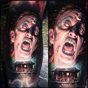 Zombie by Paul Acker (via IG-paulackertattoo) #horror #horrorrealism #portrait #color #realism #halloween #zombie #PaulAcker
