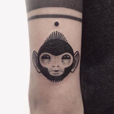 Tattoo por Guga Scharf! #GugaScharf #tatuadoresbrasileiros #tatuadoresdobrasil #tattoobr #Curitiba #monkey #macaco #animal #blackwork