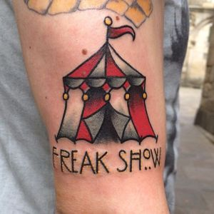 Circus Tent Tattoo by @miguelmike77 #circustattoo #circustattoos #tenttattoo #tent #circustent #circustenttattoo #traditionalcircustattoo #traditional #MiguelMike