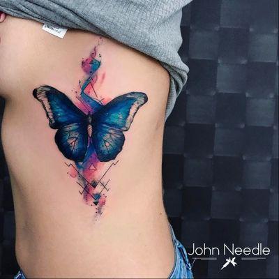 #JohnNeedle #brasil #brazil #brazilianartist #tatuadoresdobrasil #aquarela #watercolor #colorido #colorful #borboleta #buterfly #inseto #bug