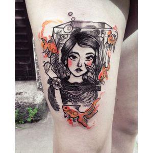Panic! at the Disco tattoo by Fukari. #Fuki #Fukari #JudytaAnnaMurawska #PATD #emo #panicaththedisco #band