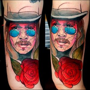 An abstract twist on the Count Tattoo by Oddboy #Dracula #vampire #horror #cinema #BramStoker #GaryOldman #abstract #contemporary #Oddboy