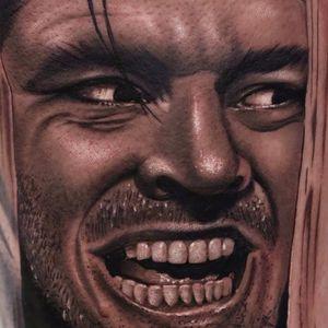 Here's Johnny! by Christos Galiropoulos #ChristosGaliropoulos #realism #realistic #blackandgrey #hyperrealism #portrait #TheShining #movietattoo #JackNicholson #stephenking  #tattoooftheday