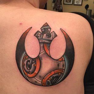 Rebel Alliance Tattoo by Bob Price #RebelAlliance #RebelAllianceTattoo #StarWarsTattoo #ForceAwakens #StarWars #BobPrice