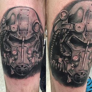 Brotherhood Of Steel Tattoo by Craig St. Peter #BrotherhoodOfSteel #BrotherhoodOfSteelTattoo #FalloutTattoos #FalloutTattoo #Fallout4 #Gaming #CraigStPeter