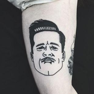 Aldo Raine Tattoo by Matt Cooley #traditional #traditionalportrait #MattCooley #AldoRaine