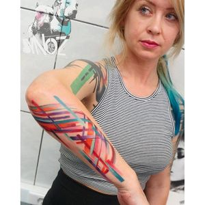 Abstract tattoo by Dynoz. #abstract #art #contemporarytattoo #Dynoz