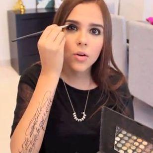 Yuya and her lettering tattoo! #tattooedyoutuber #YouTuber #lettering #Yuya