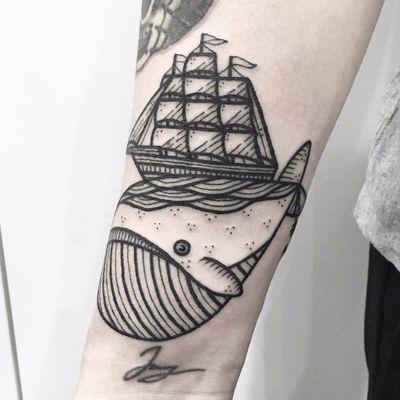 Navegando #HugoTattooer #gringo #kawaii #blackwork #cute #fofo #sea #mar #ocean #whale #baleia #barco #boat #ship #navio