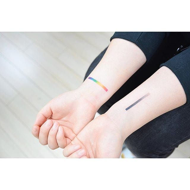 Gradient tattoo by Banul. #Banul #gradient #hue #color #mix #swatch #art