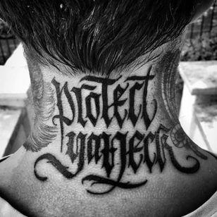 Lettering tattoo by Goorazz. #Goorazz #handstyle #script #lettering #calligraphy #blackwork