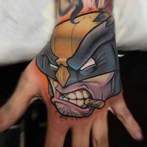 Wolverine Tattoo by Thom Bulman #wolverine #wolverinetattoo #newschool #popculture #popculturetattoos #newschoolpopculture #boldtattoos #popcultureartist #ThomBulman