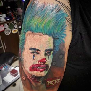 Cokie the Clown tattoo by Stanley Mark (via IG -- stanleyartninktattoo) #stanleymark #nofx #nofxtattoo