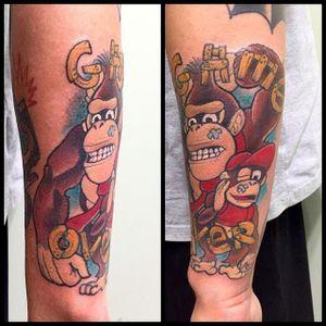 Donkey Kong Tattoo by Felipe Vertigo #DonkeyKong #gorilla #monkey #Nintendo #Gaming #FelipeVertigo