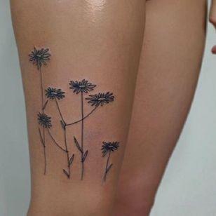 Flower tattoo by Victor Zabuga #VictorZabuga #minimalistic #blackwork #conceptual #flower