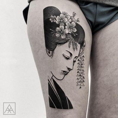 #MaxVorax #brasil #brazil #brazilianartist #tatuadoresdobrasil #blackwork #woman #mulher #gueixa #geisha #flor #flower #pontilhismo #dotwork