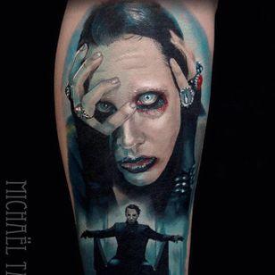 Marilyn Manson. (via IG - michaeltaguet) #realism #celebrity #portrait #michaeltaguet #MarilynManson