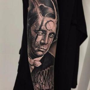 #AnrijsStraume #dark #trash #realistic #fromhell #blackwork #TattoodoBR #chifre #horn