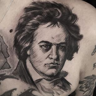 Beethoven by Mike Riina (via IG-mike_riina) #sketch #freehand #blackandgrey #illustrative #portrait #MikeRiina #Beethoven