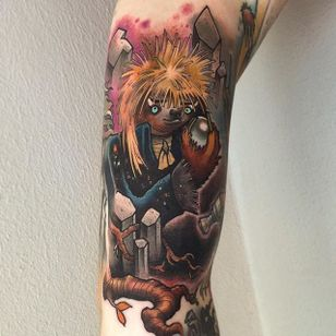 David Bowie Sloth Tattoo by Eddie Stacey #sloth #slothtattoo #slothtattoos #slothdesign #funtattoos #EddieStacey