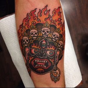 Mahakala Tattoo by Davide Mancini #mahakala #mahakalatattoo #mahakalatattoos #kali #hindu #hindutattoo #deity #deitytattoo #DavideMancini