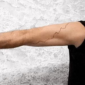 His tattoo shows data taken from NASA depicting climate change. #JustinGuariglia #NASA #ClimateChange #Climate #Science #ScienceTattoo