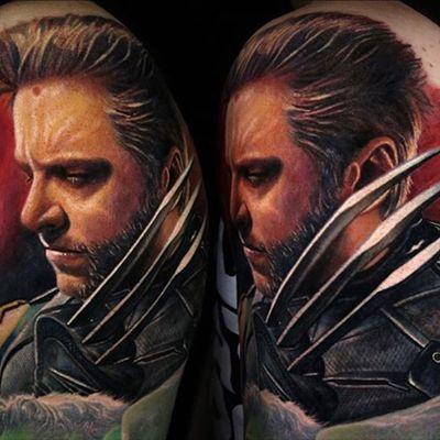 A jaw-dropping color portrait of Hugh Jackman as Wolverine via Carlos Rojas (IG—crojasart). #CarlosRojas #Logan #Wolverine #XMen