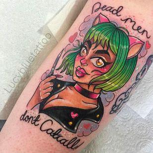 Cat lady Tattoo by Lucy Blue @Lucybluetattoo #Lucybluetattoo #Neotraditional #pinup #pinupgirl #pinuptattoo #girltattoo #BlueCardinal #Manchester #UK #Catlady #cat #catgirl