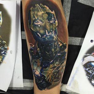 Ultron Tattoo #Ultron #Portrait #ColorPortrait #ColorRealism #PopCulture #AlexRattray