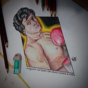 #AugustoTelles #RockyBalboa #SylvesterStallone #boxe #filme #movie #lutador #fighter #illustration #ilustração