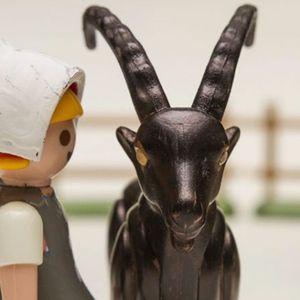 Absurd fake Playmobile toy set of 'The Witch.' #BlackPhillip #Goat #666 #Devilish #Devil #Satan #SatanicGoat