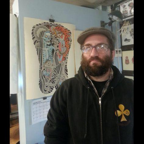 John Reardon, the owner of Greenpoint Tattoo Co. (IG—johnreardontattoos). #GreenpointTattooCo #JohnReardon #NYCtattooshops