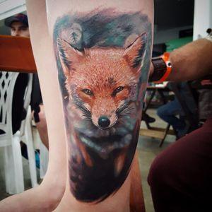 Por Klebyz Soares! #KlebyzSoares #tatuadoresbrasileiros #Realism #realismo #Fox #Raposa #foxtattoo
