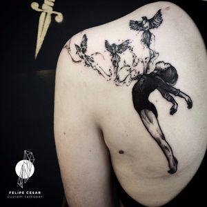 Por @felipecesar! #FelipeCesar #blackwork #TattooBrasil #TatuadoresDoBrasil #brasil #portugues