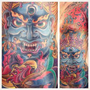 Mahakala Tattoo by @darkoneness #mahakala #mahakalatattoo #mahakalatattoos #kali #hindu #hindutattoo #deity #deitytattoo #darkoneness