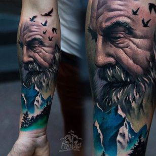 Old Man Tattoo by Alex Pancho #realism #colorrealism #realistictattoo #abstractrealism #realistictattoos #AlexPancho